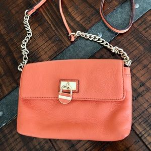 CALVIN KLEIN Salmon Orange Crossbody Purse